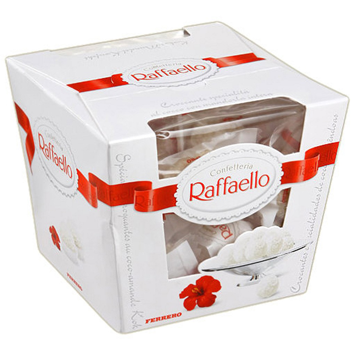 Конфеты Raffaello с цельным орехом 150г